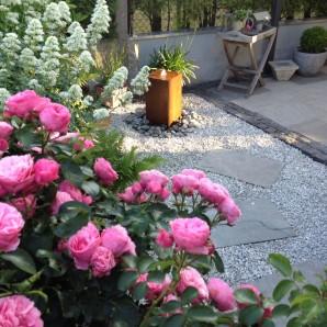 Wasserspiel SET: Cortenstahl Säule 50 Edelrost Gartenbrunnen inkl. Pumpe | Zierbrunnen