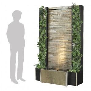Zimmerbrunnen Glycine 160 | Feng Shui Quarz Wasserwand inkl. Beleuchtung