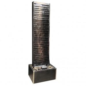 Zimmerbrunnen Geante Black 200 | Feng Shui Brunnen Wasserwand inkl. Beleuchtung