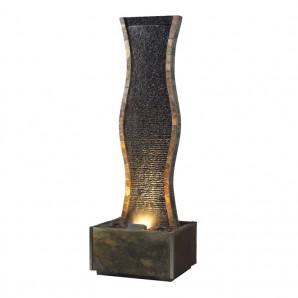 Zimmerbrunnen Ell 170 LEX Wasserwand Feng Shui Schiefer Brunnen inkl. Beleuchtung