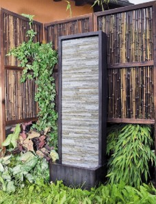 Gartenbrunnen Jinha 105 Wasserwand Wasserspiel inkl. Pumpe