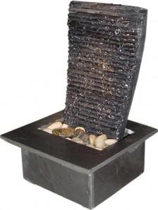 Zimmerbrunnen Voile Black 41 | Feng Shui Schieferbrunnen