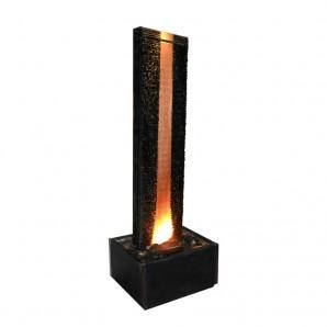 Zimmerbrunnen Flamme Kupfer 180 LEX   Feng Shui Brunnen Wasserwand inkl. Beleuchtung