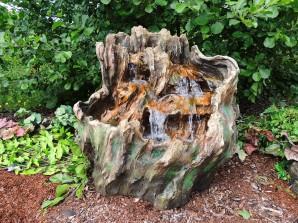 Zierbrunnen Lian 85cm | Wasserspiel Polystone Wasserfall inkl. Pumpe und LED