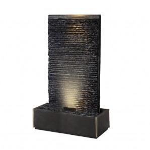 Zimmerbrunnen Lamelle Black Large 170   Feng Shui Brunnen Wasserwand inkl. LED