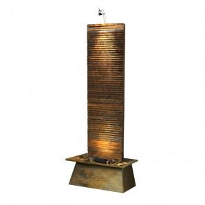 Zimmerbrunnen Lamelle 170 Feng Shui Schieferbrunnen Wasserwand