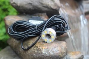 3er SET 6er LED Ring warm weiß 2m Kabel | Unterwasser Beleuchtung - NUR MIT EINEM UNSERER BRUNNEN VERKÄUFLICH