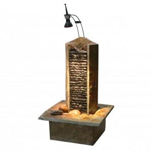 Zimmerbrunnen Biso 38   Feng Shui Schiefer Brunnen Wasserwand