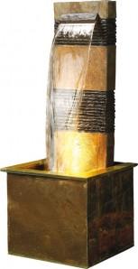Brunnen Verso 120 Wasserfall Schieferbrunnen inkl. Beleuchtung