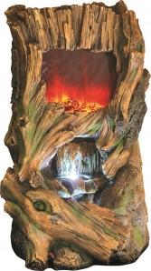 Zimmerbrunnen Mingbey 57 cm | Polystone Wasserfall Wasserspiel inkl. Pumpe und LED Beleuchtung