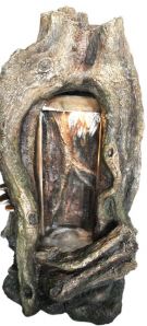 Zierbrunnen Lanah 102 cm | Polystone Wasserfall Wasserspiel inkl. Pumpe und LED Beleuchtung