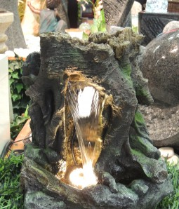 Zimmerbrunnen Laili | Zierbrunnen Polystone Wasserfall inkl. Pumpe
