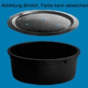 PE Becken Ø 110 cm mit GFK Deckel Ø 120 cm | für Quellsteine, Wasserspiele und Zierbrunnen