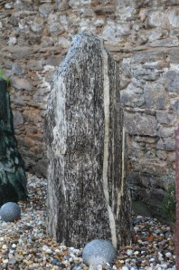 Wasserspiel kpl. SET: Quellstein Gneis Monolith inkl. Pumpe | Becken