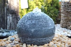 Wasserspiel SET Quellstein Granit Kugel 60 Gartenbrunnen