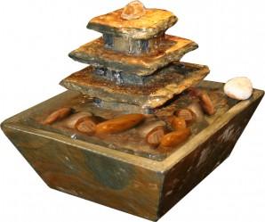 Zimmerbrunnen Pyramide Mini 15 Feng Shui Schieferbrunnen Tischbrunnen