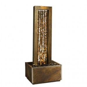 Zimmerbrunnen Collier 150 | Premium Wasserwand Schieferbrunnen inkl. Beleuchtung