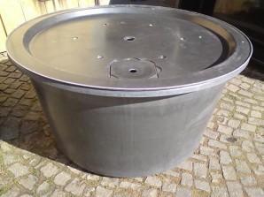 Fiberglas GFK Becken mit Deckel Ø120x60 | Pumpe Oase Aquarius Universal Eco 3000