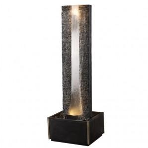 Zimmerbrunnen Flamme inox 180 LEX   Edelstahl Brunnen Wasserwand inkl. Beleuchtung