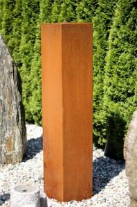 Wasserspiel SET Cortenstahl Säule 150cm Edelrost Gartenbrunnen inkl. Pumpe