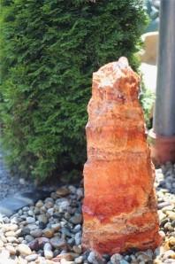 Wasserspiel SET Quellstein Marmor Rosso 55cm Gartenbrunnen Springbrunnen
