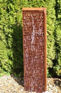 Wasserspiel SET Wasserwand Lamelle 150cm Cortenstahl Gartenbrunnen Edelrost