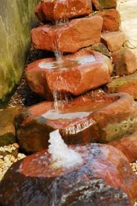 Bachlauf SET 5tlg. Sandstein Schalen inkl. Pumpe Becken LED