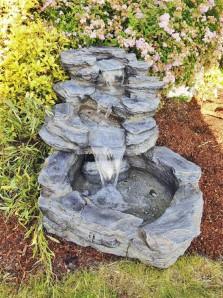 AUSSTELLUNGSSTÜCK Gartenbrunnen Tanyu Wasserfall Polystone Bachlauf Schiefer Optik inkl. Pumpe