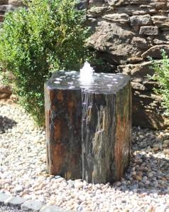 Bilder Ähnlich !! Wasserspiel SET Quellstein Schiefer 60 mit Quellschale Brunnen Gartenbrunnen Springbrunnen
