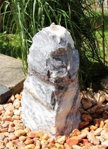 Wasserspiel SET Quellstein Monolith 62cm Marmor Gartenbrunnen Springbrunnen