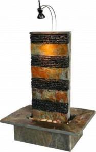 Zimmerbrunnen Bando 60 Wasserwand Feng Shui Schieferbrunnen inkl. Beleuchtung