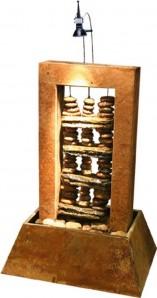 Zimmerbrunnen Maya 55 | Feng Shui Schieferbrunnen inkl. Beleuchtung