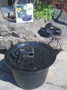 PE Becken mit GFK Deckel Ø45x30 | Pumpe Messner System M 800 | LED