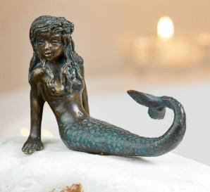 Bronzefigur Meerjungfrau Nina 8,5cm | Bronze Skulptur Rottenecker
