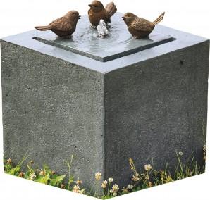 Gartenbrunnen Vogeltreff Quelle 46 Polystone Springbrunnen inkl. Pumpe und LED