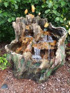 Zierbrunnen Lian 85cm Polystone Wasserfall inkl. Pumpe und LED
