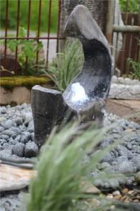 Wasserspiel SET Quellstein Moon 80cm Marmor Gartenbrunnen inkl. Pumpe