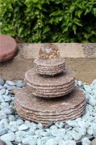 AKTIONSPREIS! Wasserspiel SET Quellstein Mini Zichi 37 Granit Gartenbrunnen
