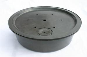 PE Becken mit GFK Deckel Ø 120 cm 275 Liter für Quellsteine Wasserspiele Zierbrunnen