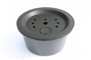 PE Becken mit GFK Deckel Ø 55 cm 45l für Quellsteine Wasserspiele Zierbrunnen