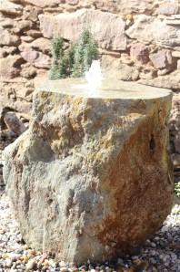 Wasserspiel SET Quellstein Porphyr 80 Gartenbrunnen Springbrunnen