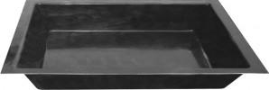 Teichbecken Fiberglas GFK Becken 180/130/52cm 600 Liter rechteckig