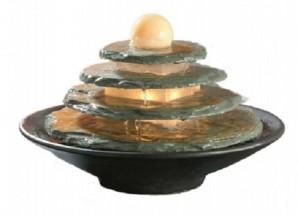 Zimmerbrunnen Tao Feng Shui Schieferbrunnen inkl. dreh. Kugel und Pflegemittel