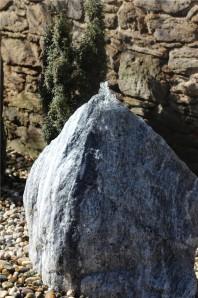 Wasserspiel SET Quellstein 60 Zebra Marmor Gartenbrunnen Springbrunnen