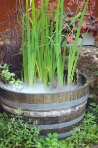 Weinfass 68cm inkl. Nebler Brunnen Biotop Mini Teich Wasserspiel