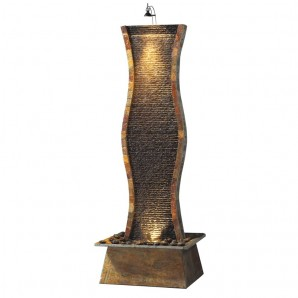 Zimmerbrunnen Ell 170 Wasserwand Feng Shui Schiefer Brunnen inkl. Beleuchtung