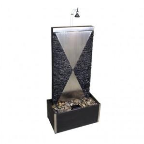 NUR ABHOLUNG! Zimmerbrunnen Delda 110 Wasserwand Schiefer Edelstahlbrunnen inkl. Beleuchtung