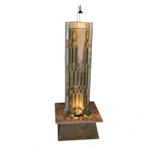 Zimmerbrunnen Oasis 130 | Wasserwand Schieferbrunnen inkl. Beleuchtung