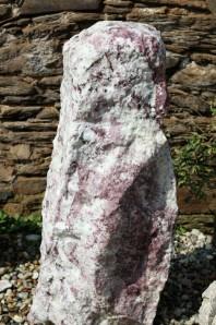 Wasserspiel kpl.SET: Quellstein Marmor weiß/rosé inkl. Pumpe   Becken