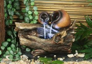 Zimmerbrunnen Liu | Zierbrunnen Polystone inkl. Pumpe und LED Beleuchtung